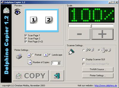 Screenshot für Delphino Copier