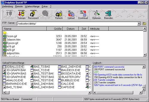 Screenshot für Delphino QuickFTP